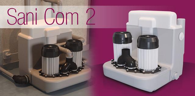 купить двухмоторную канализационную насосную станцию для интенсивного применения SANICOM 2