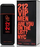 Мужская туалетная вода 212 VIP Men Are You On The List Black (Красные буквы) - 100 мл