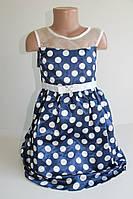 Платье крупній горох