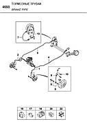 Трубка тормозная Нексия передняя правая (GM)