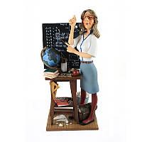 """Статуэтка учитель Forchino 600009 41 см разноцветная """"Катет длиннее гипотенузы"""""""