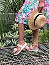 Женские модные босоножки с натуральным мехом пудрового цвета, фото 4