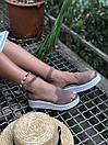 Женские замшевые босоножки на платформе бежевого цвета (+ 9 других вариантов), фото 3