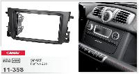 Рамка переходная Carav 11-358 SMART ForTwo 2011-> 2DIN
