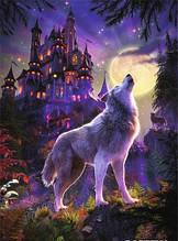 Светящийся Пазл Волк и луна