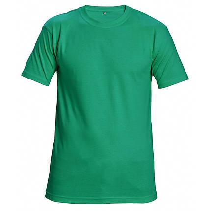 Футболка хлопок Červa унисекс TEESTA бесшовная 160 зеленая, фото 2