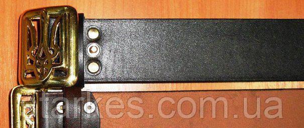 Ремни кожаные с латунной пряжкой тризуб, 100 см и т.д.
