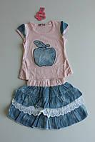 Костюм с яблочком для девочки р.8 (примерно 2 года)