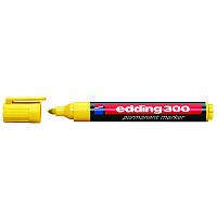 Маркер Permanent e-300 1,5-3 мм  круглый жёлтый, edding, 300 жел