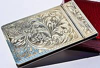 Шикарный антикварный блокнот! Серебро,800. Италия!