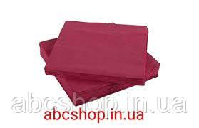 Нагрудники стоматологические трехслойные текстурированные салфетки 10шт (бордовые)