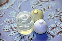 Молд шар для заливки эпоксидной смолы 27-28 мм прозрачный силикон США, фото 1