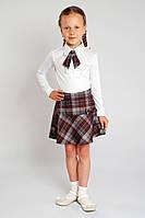 Юбка школьная - бордовая школьная форма, фото 1