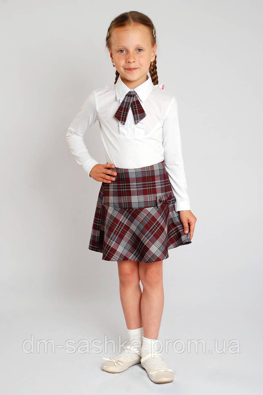 Юбка школьная - бордовая школьная форма