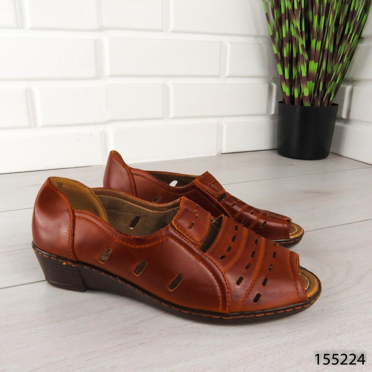 """Босоножки женские, коричневые """"Murda"""" эко кожа, сабо женские, открытые туфли женские"""