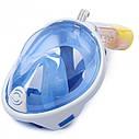 Повна панорамна маска для плавання UTM FREE BREATH (XS) Блакитна з кріпленням для камери, фото 4