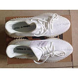 Мужские светящиеся кроссовки yeezy boost 350 v2 luminous white, фото 5