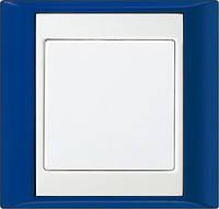 Рамка 1-я. Синий-Белый Jung A plus