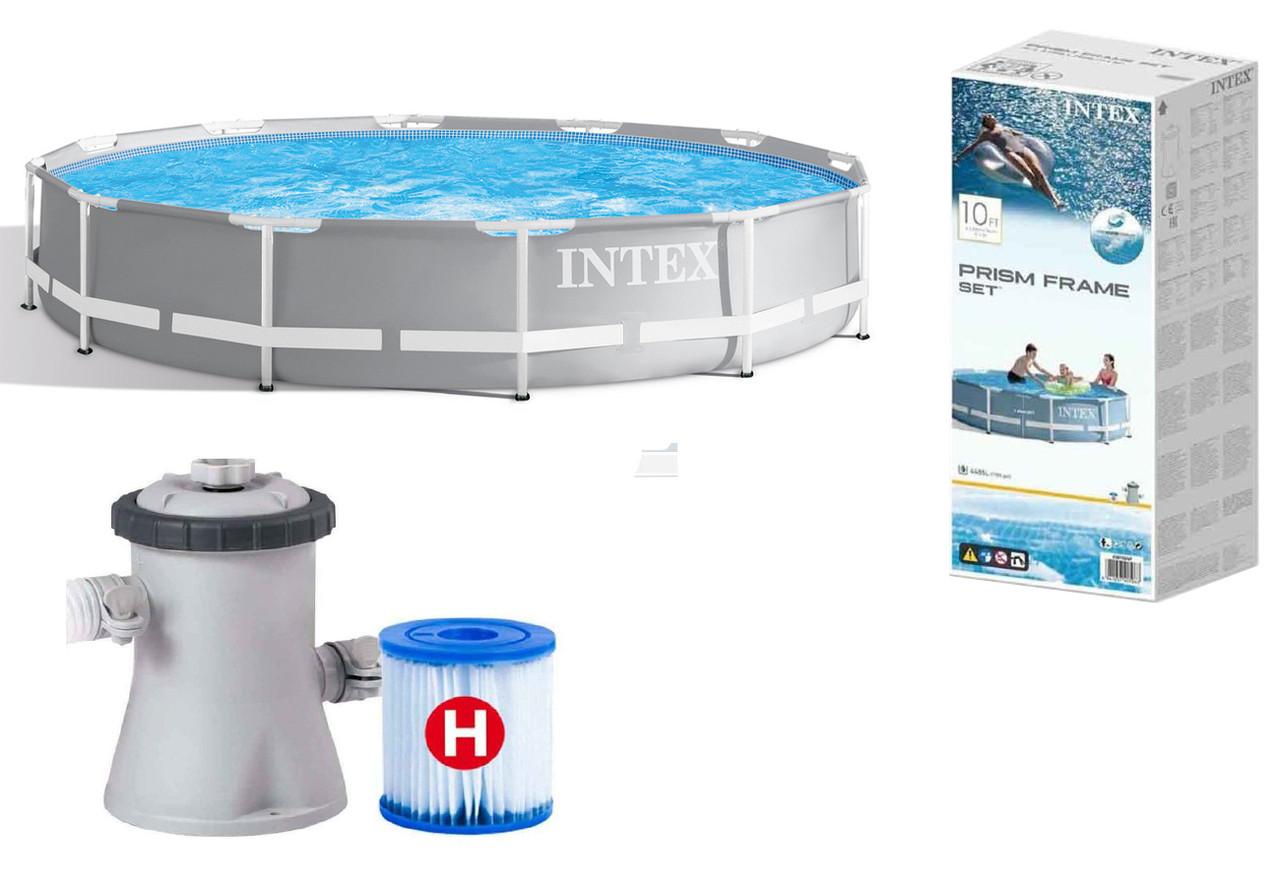 Каркасный бассейн Intex Prism Frame 26702, 305*76 см, фильтр-насос
