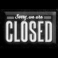 "Указатель ""Sorry, we are closed"" Nostalgic Art (22219)"