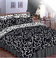 """Двуспальный комплект постельного белья  """"Чёрное и белое""""., фото 1"""