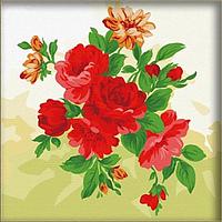 """Картина раскраска по номерам на холсте 40*40 см """"Красивые пионы"""" Munglei"""