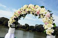 Аренда свадебного декора, прокат арки + столик с композицией