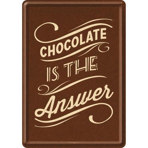 "Открытка ""Chocolate is the Answer"" Nostalgic Art (10247)"