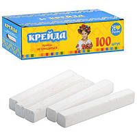 Мел белый школьный 100 шт №8