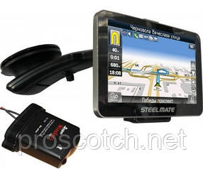 "All-in-one 881 + Radar-detector 881 GPS навигатор (5.0""+TPMS+PTSV+Navitel) + Радар-детектор, STEELMATE"
