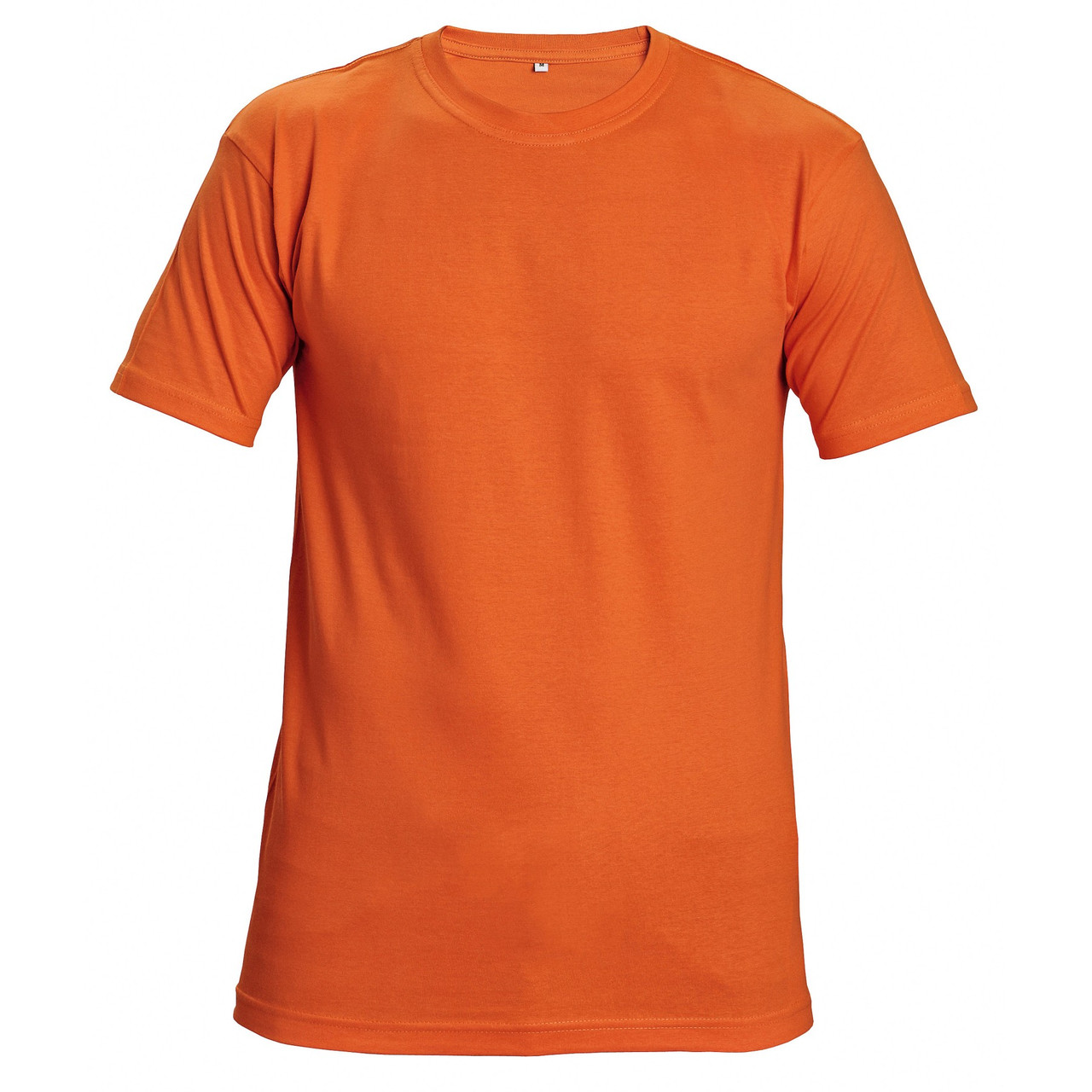 Футболка хлопок однотонная Červa унисекс TEESTA бесшовная с короткими рукавами оранжевая