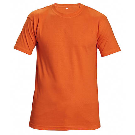 Футболка хлопок Červa унисекс TEESTA бесшовная 160 оранжевая, фото 2