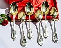 Восхитительные чайные(кофейные) ложки,набор,6 шт! Вензеля! Серебро!