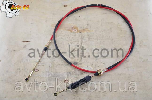 Трос выбора передач (кольцо-кольцо) Foton 1043-1 Фотон 1043-1 (3,3 л) 2,80 м, фото 2