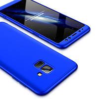 Пластиковая накладка 360 градусов для Samsung Galaxy A6 (2018) (Синий)