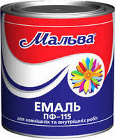 """Эмаль алкидная для наружных и внутренних работ """"Мальва"""" Темно-вишневый 0,9кг"""