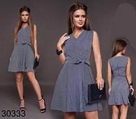 Женское летнее полосатое платье-сарафан на запах р. 42-48