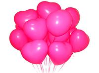 9 розовых сердец.