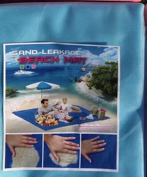 Покрывало антипесок, пляжное Sand LeakageBeach Mat 2х2 м