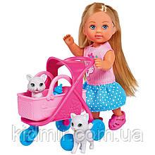 Кукла Еви Набор Коляска с котятами Evi Simba 5733348