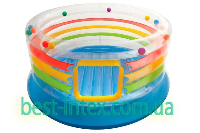 Intex 48264 (182х86 см.) Детский игровой центр батут надувной с мячами