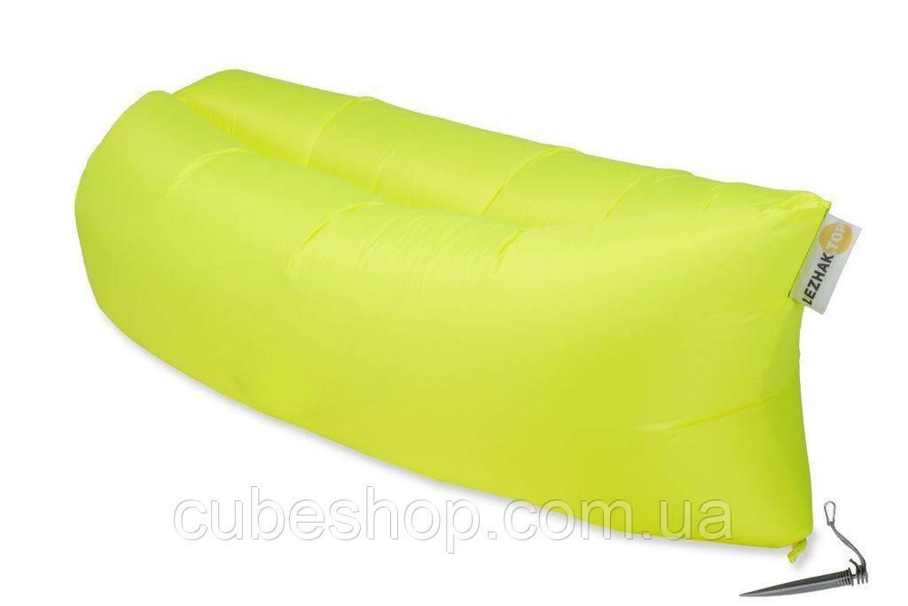 Надувной шезлонг (ламзак) Standart (желтый неон)