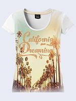 Женская 3D футболка CALIFORNIA DREAMING