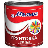 "Грунт по металлу антикоррозийный ""Мальва"" Темно-серый 0,9кг"