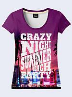 Женская 3D футболка CRAZY NIGHT