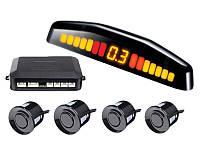 Автомобильный парктроник, Парковочный радар на 4 датчика с LED дисплеем, Скидки