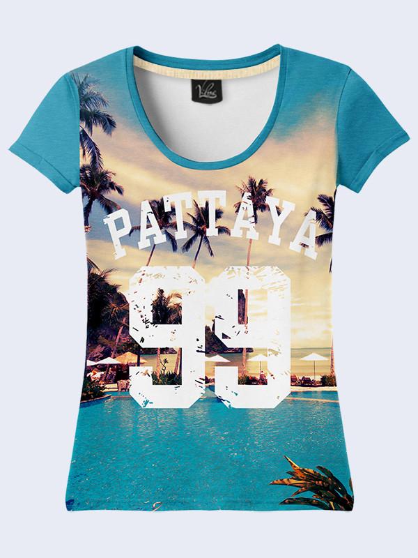 Женская 3D футболка PATTAYA 99