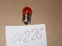 Лампа 12 V габаритная (малая) 5W (Брест) желтая, каталожный № А 12-5