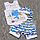 Детский летний костюм 80-86 9-12 мес комплект для мальчика майка шорты и шапочка на лето из КУЛИР 3654 Голубой, фото 2