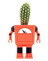 Горшок для цветов  Робот, оранжевый